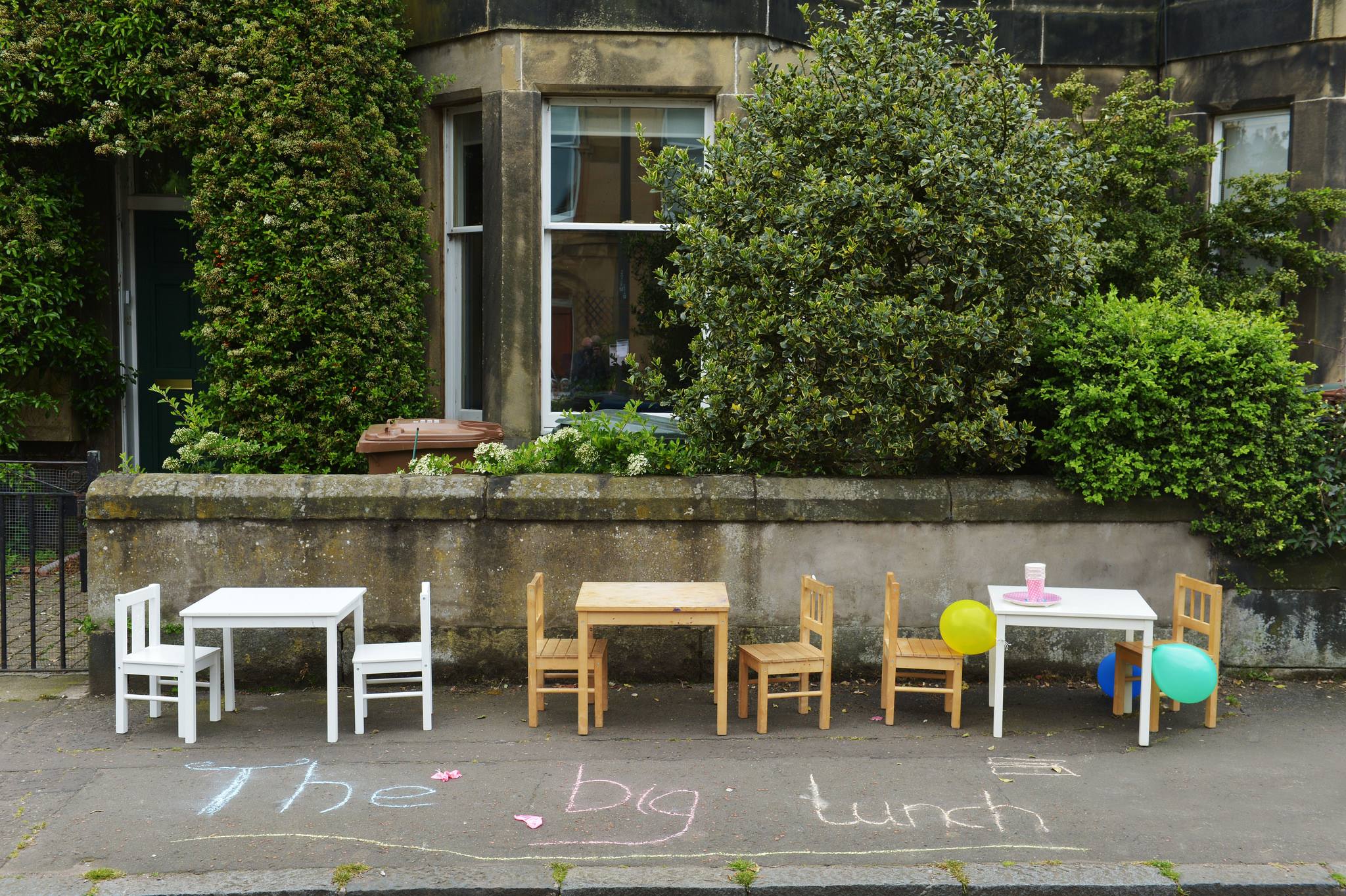 Photo of chairs set up for Big Lunch