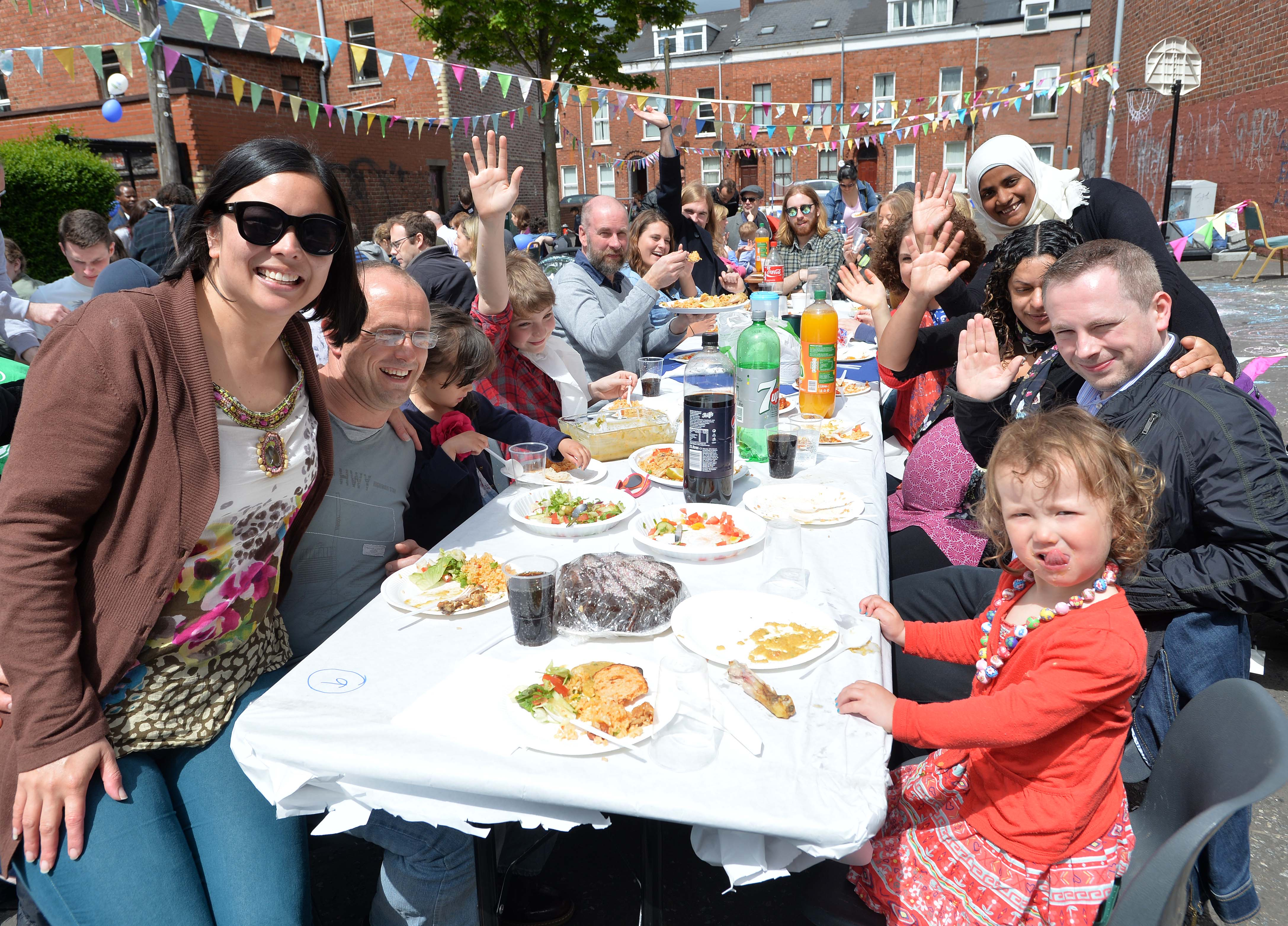 The Big Lunch in a street