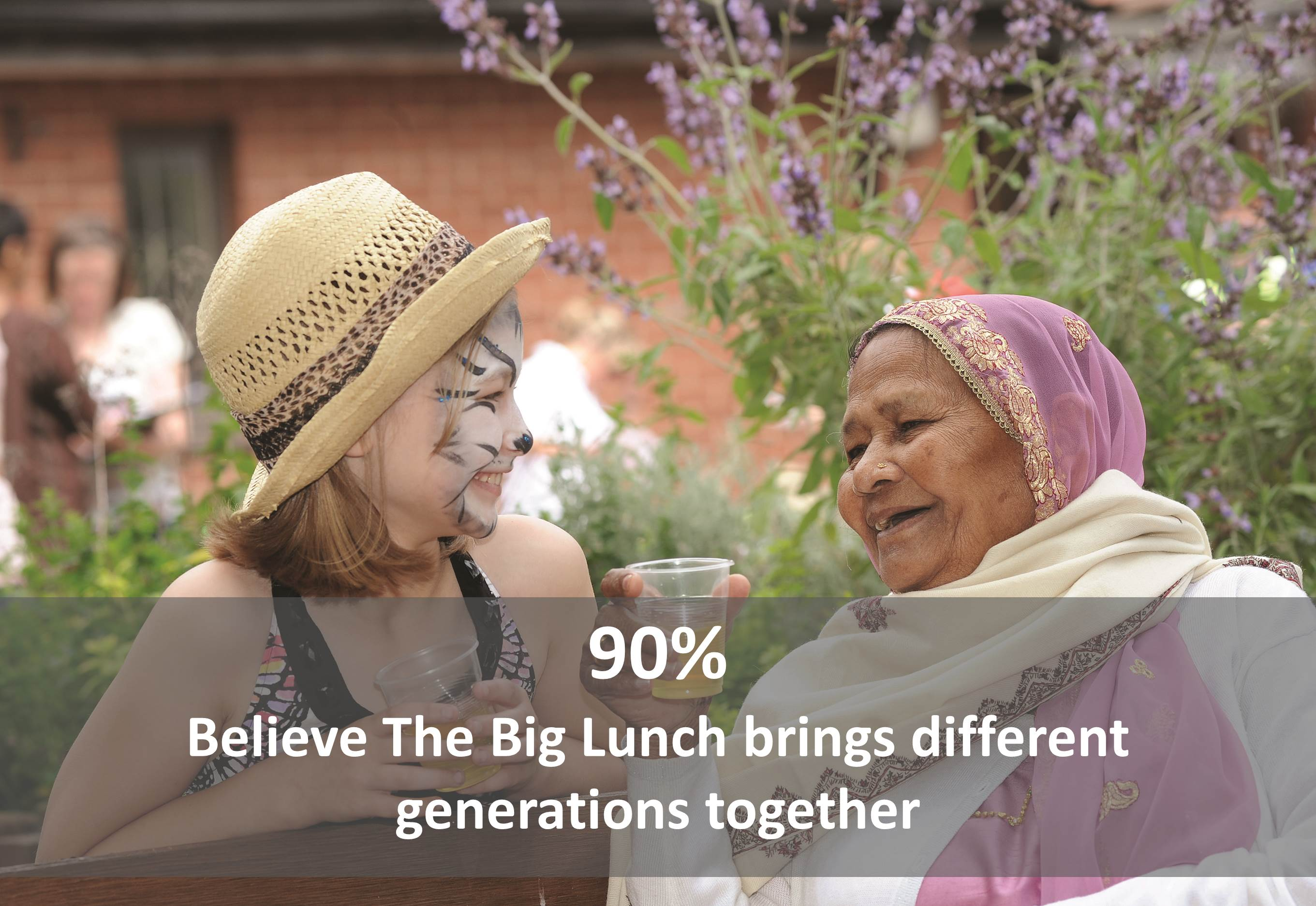90% believe The Big Lunch brings different generations together