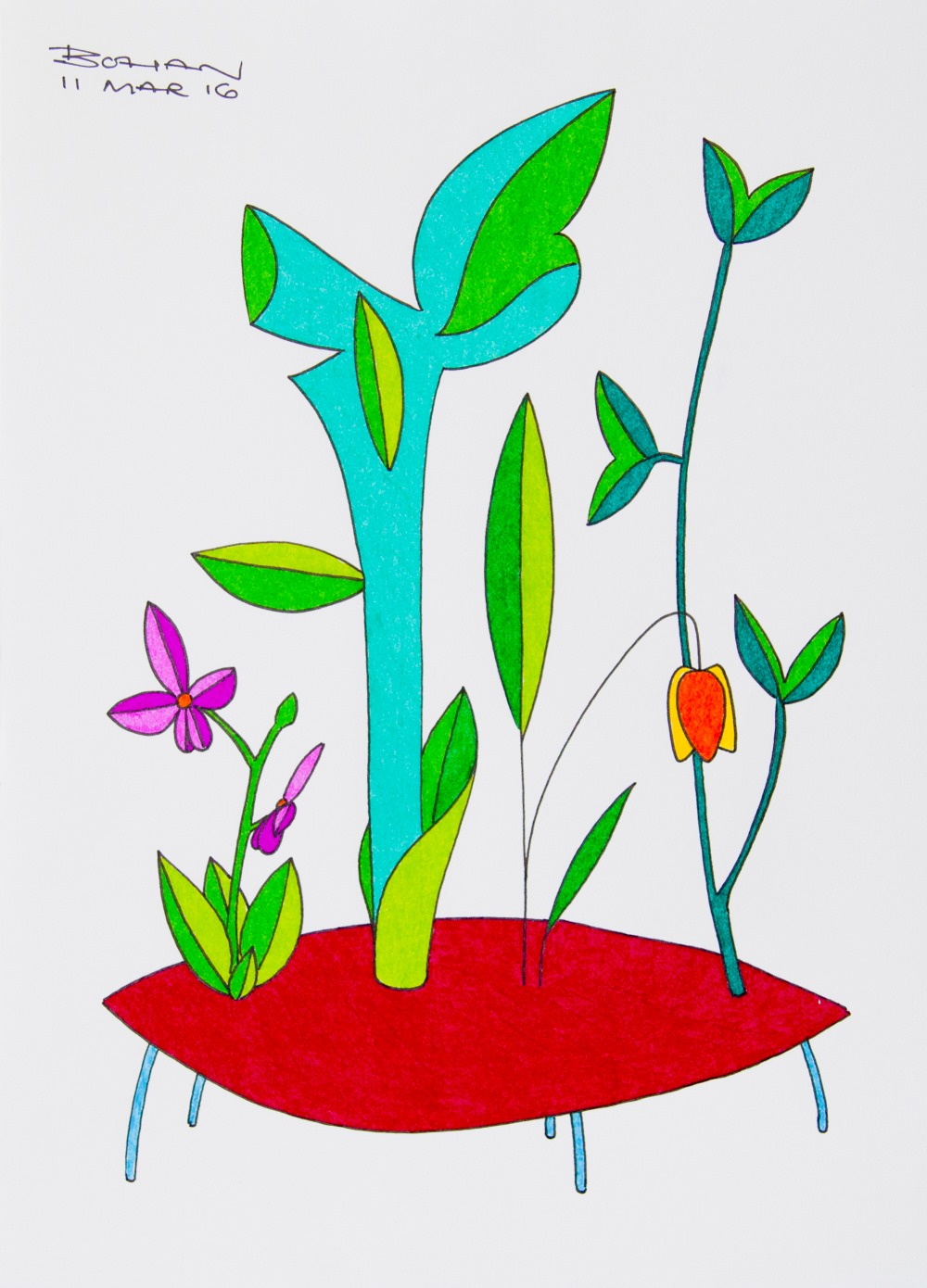 Painting of flowers.