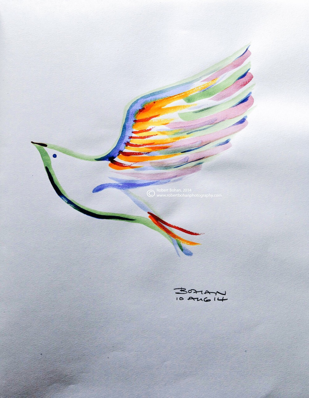 Painting of a dove.