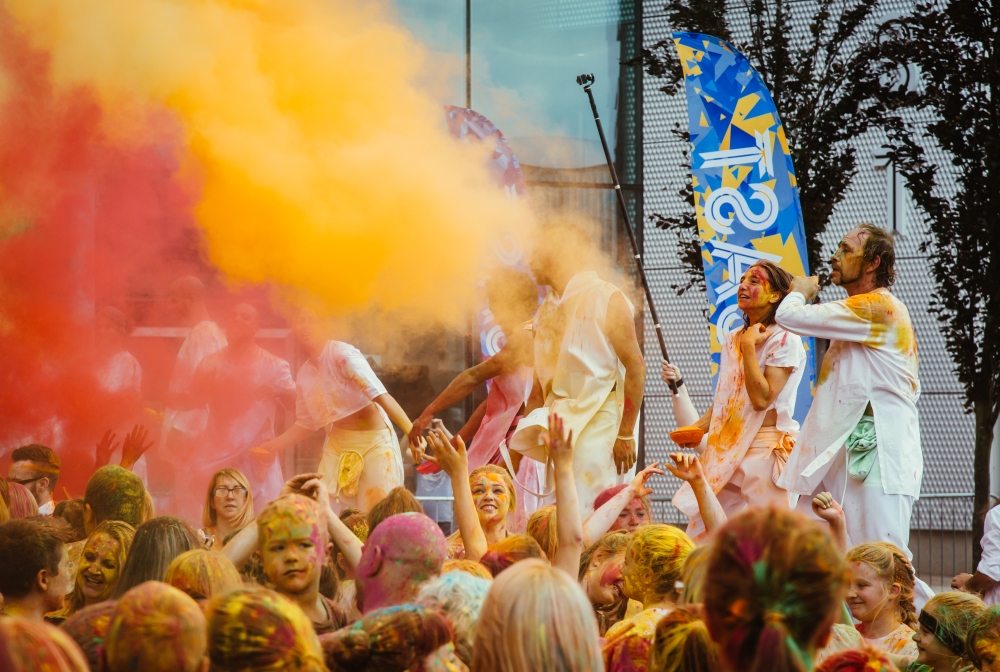 Festival of colours.