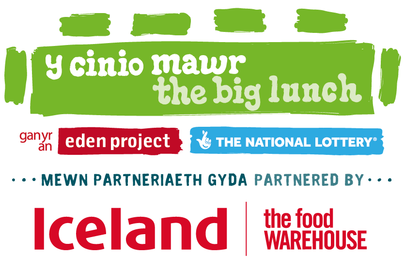 Bilingual The Big Lunch and Iceland logo