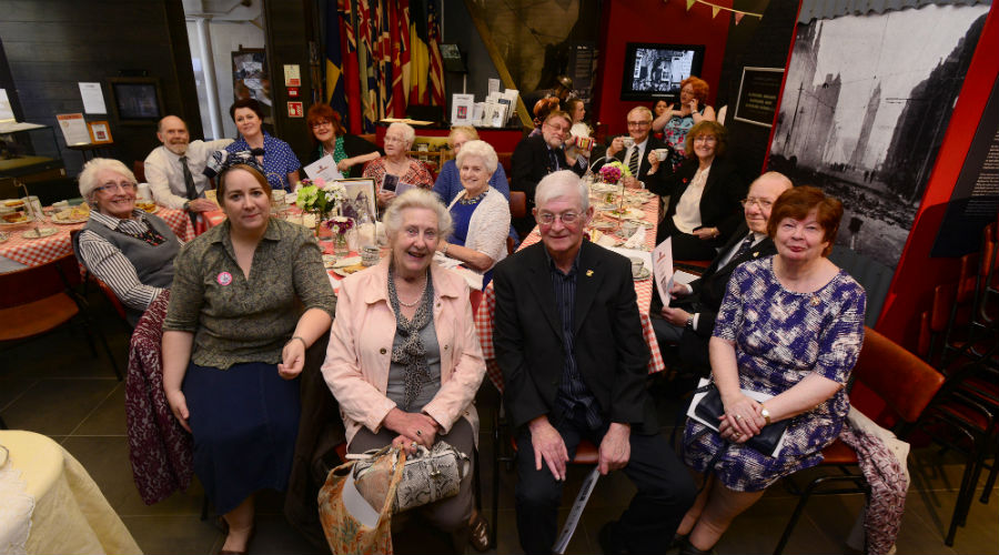People at a VE Day Big Lunch May