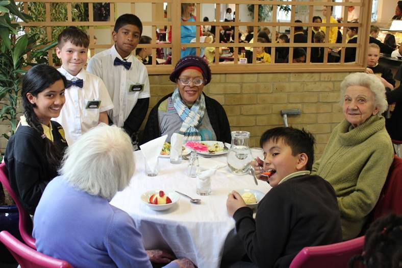 Photo of elderly people enjoying Charlton Manor's initiative