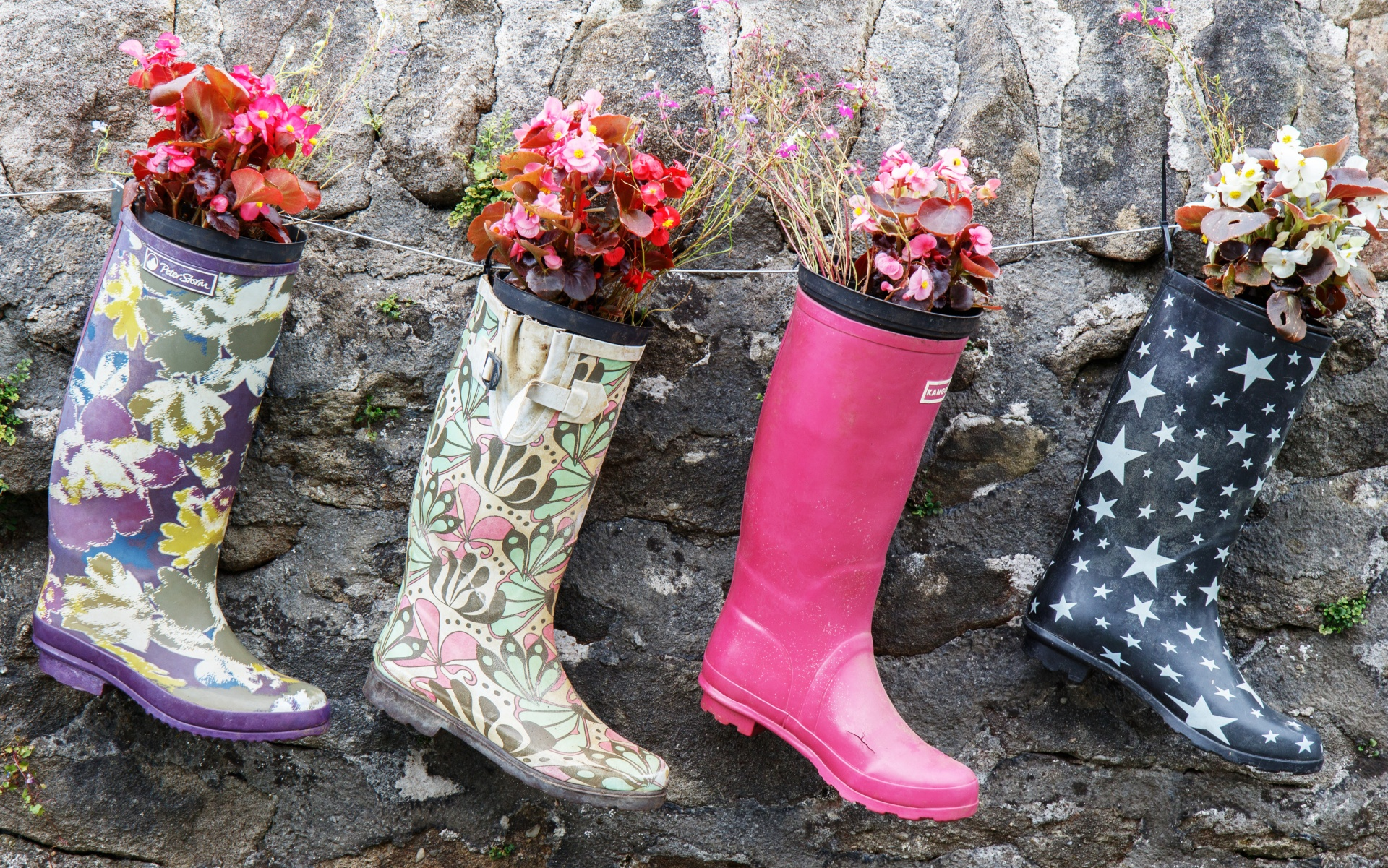 Planting in welly boots