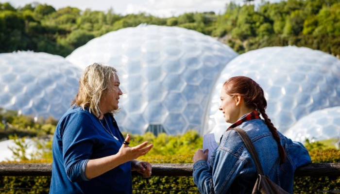 People at Eden Project