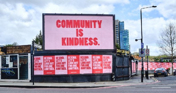 Community is kind sign