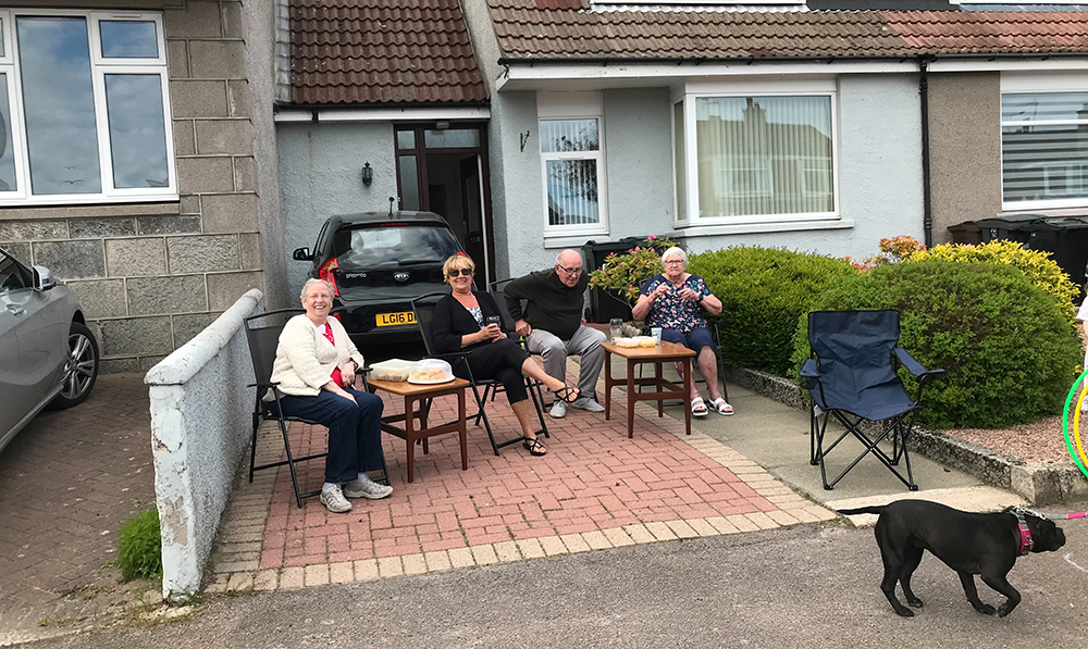 Residents at the Big Lunch at Braeside