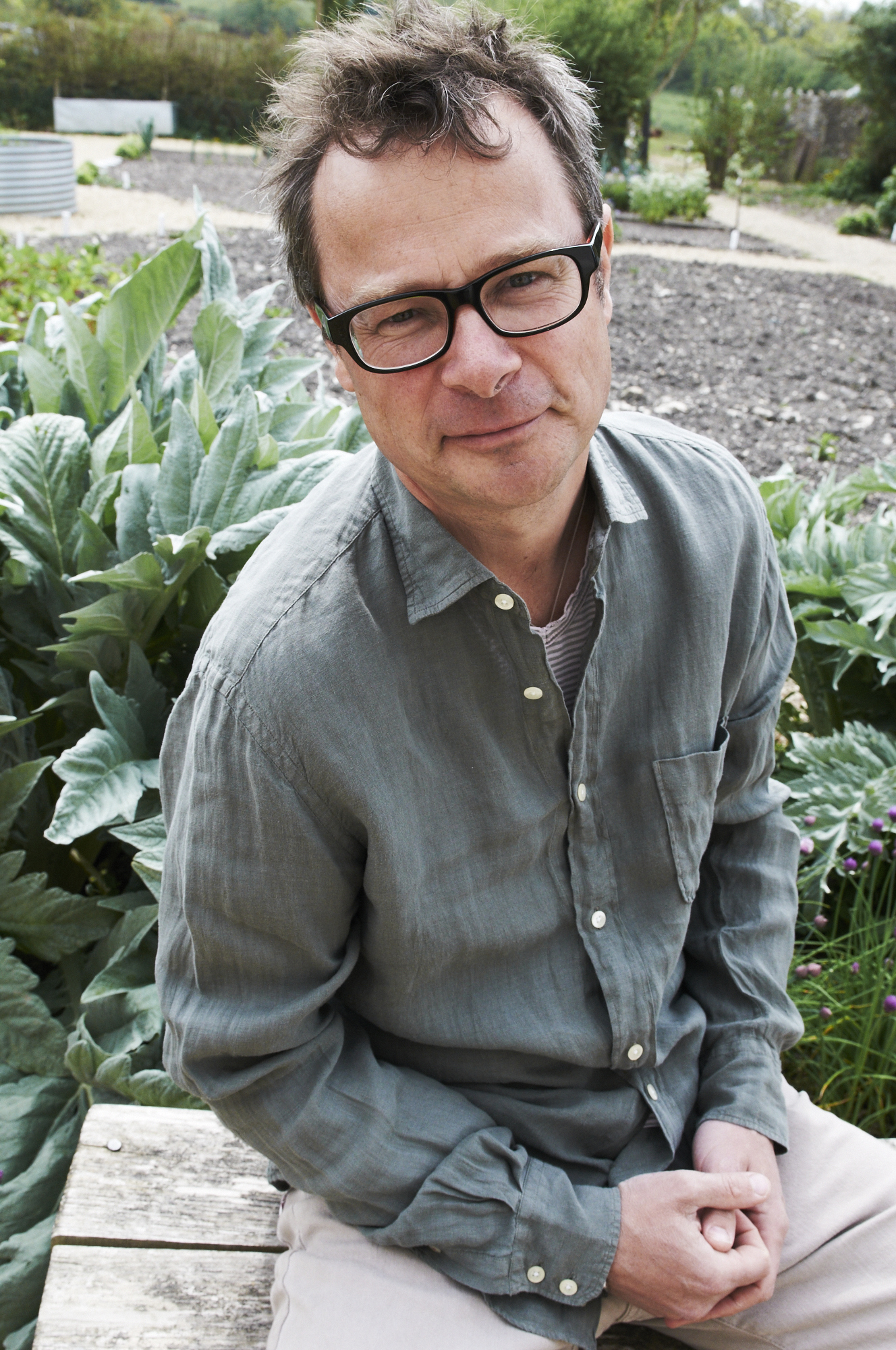 Photo of Chef Hugh Fearnley-Whittingstall.
