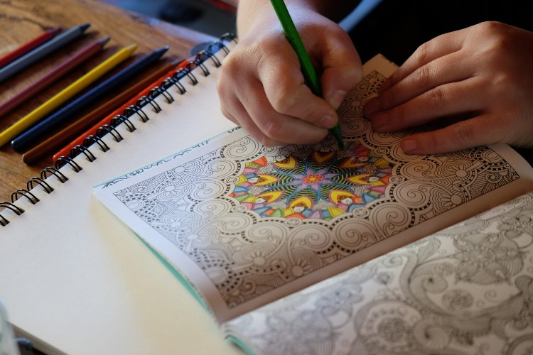 mindfulness colouring book.