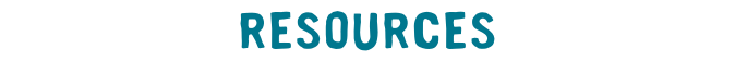 Resources label teal