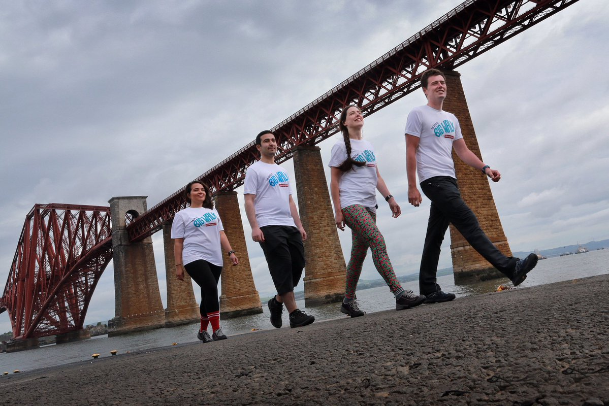 The Great Big Walk's Team Scotland at South Queensferry.