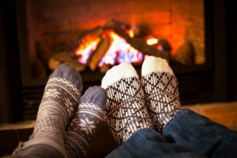 Feet together by the fire