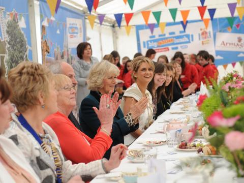 HRH The Duchess of Cornwall attends The Big Jubilee Lunch at the Palace Demense