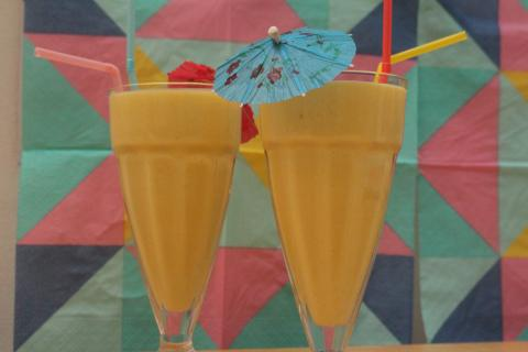Super Smooth Mango Lassi.