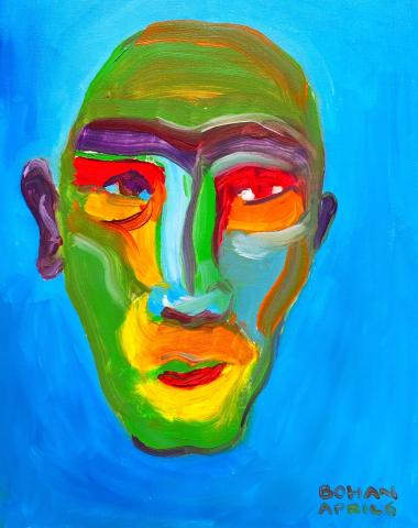 Robert Bohan painting of a face.