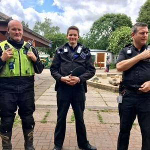 Photo of three Avon and Somerset police officers.