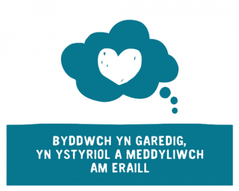 Be Kind web graphic in welsh