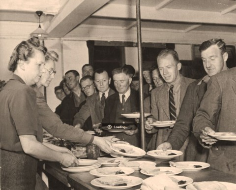 royal voluntary service canteen during the war.