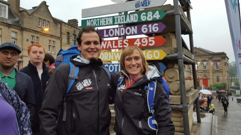 Noel and Olivia at the start of the walk.