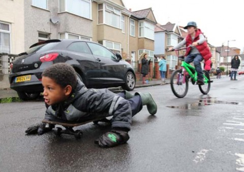 Photo of street play from Play England