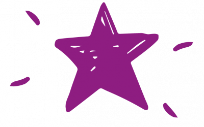 Purple hand drawn star