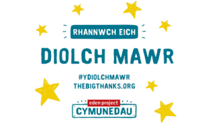 The Big thanks graphic in welsh