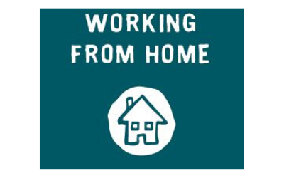 Working from home card