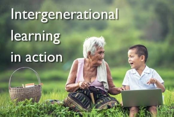 Photo of intergenerational learning