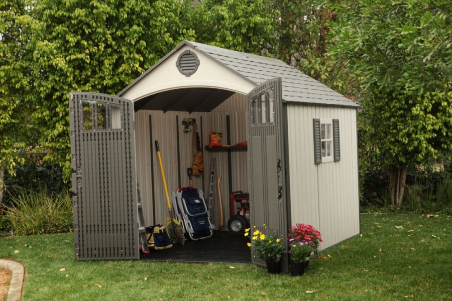 A garden shed.
